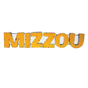 Mizzou Gold Recycled Metal Wall Sign