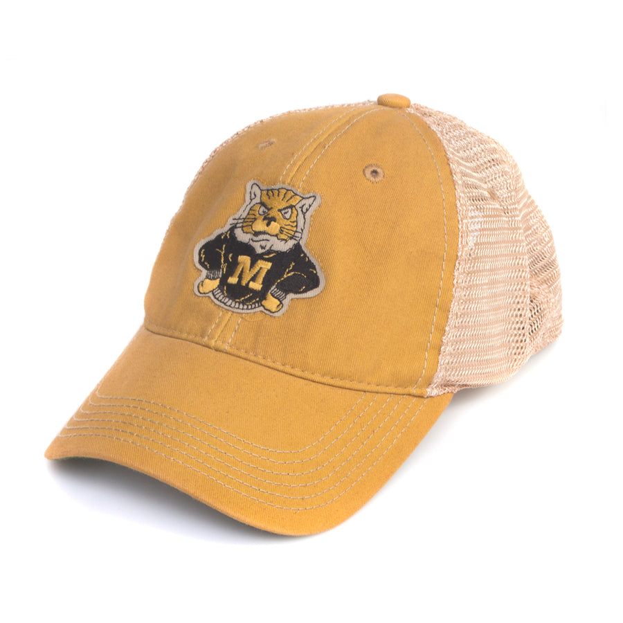 0f33365ad5d Mizzou Classic Collection Sweater Tiger Mesh Trucker Adjustable Yellow Cap