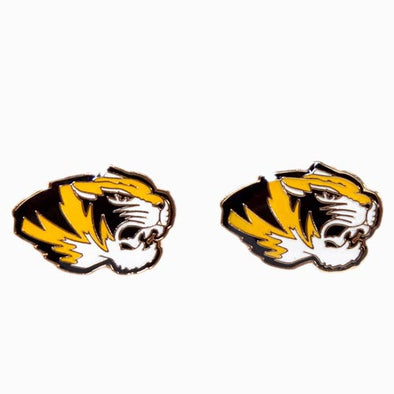 Mizzou Tiger Head Post Earrings