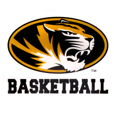 Mizzou Basketball Oval Tiger Head Decal