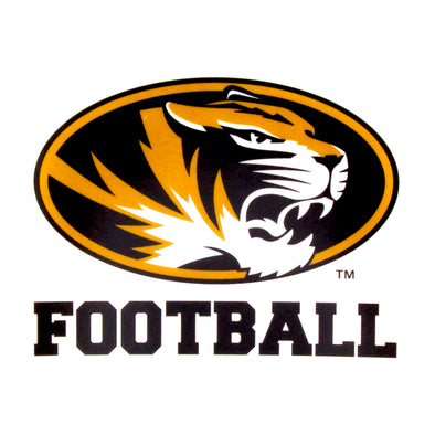 Mizzou Football Oval Tiger Head Decal
