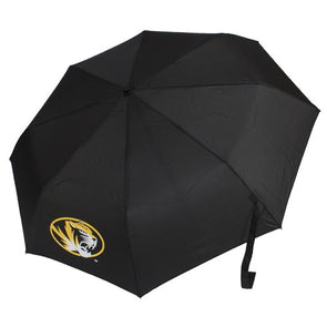 Mizzou Oval Tiger Head Black Compact Umbrella