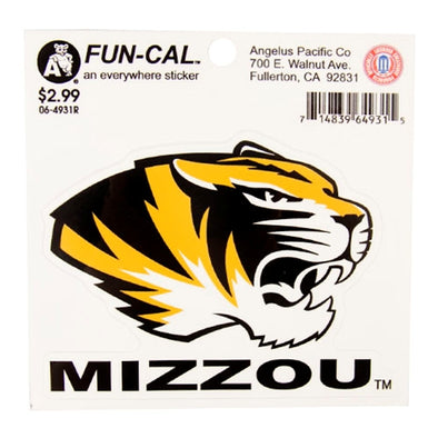 Mizzou Tiger Head Fun-Cal Decal