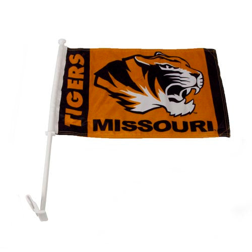 Missouri Tigers Gold Two-Sided Car Flag