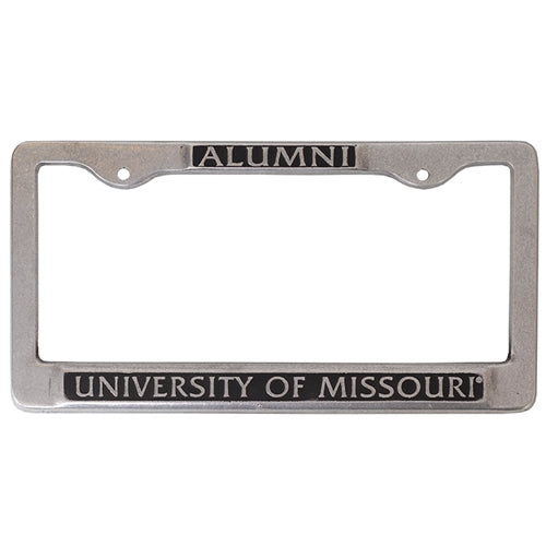 University of Missouri Alumni Pewter License Plate Frame