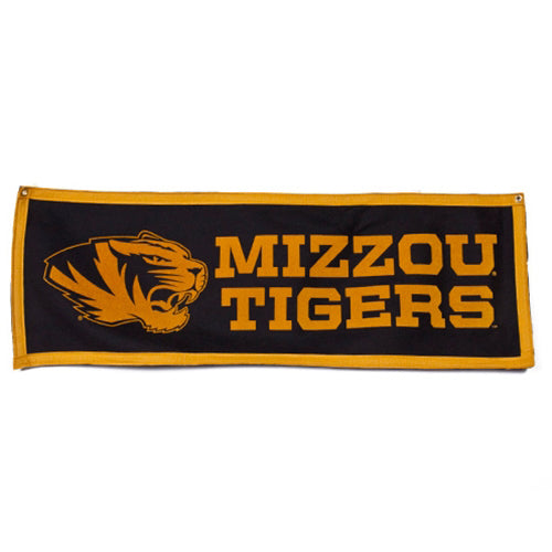 Mizzou Tiger Head Tigers Banner