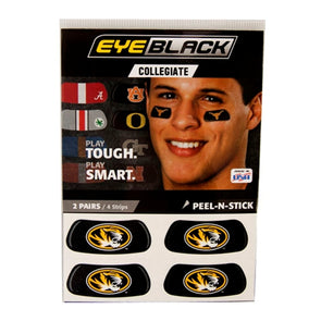 Mizzou Oval Tiger Head Eye Black Stickers