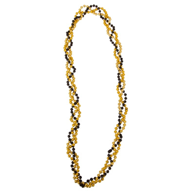 Mizzou Twisted Black and Gold Beads
