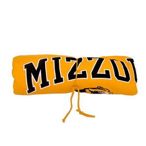 Mizzou Tigers Head Gold Rolled Blanket