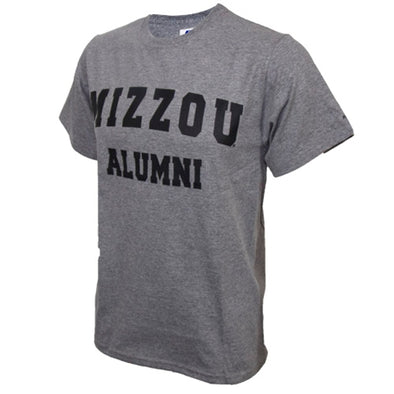 Mizzou Alumni Grey Short Sleeve Crew Neck T-Shirt