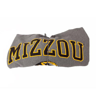 Mizzou Tigers Head Graphite Rolled Blanket
