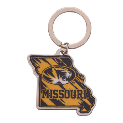 Missouri Oval Tiger Head Key Chain