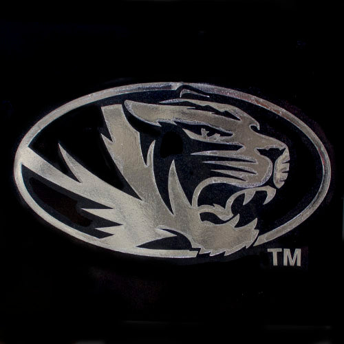 Missouri Tiger Head Silver Cutout Decal