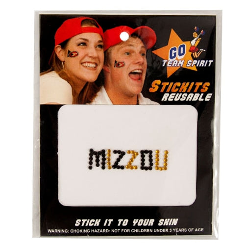 Mizzou Rhinestone Face Stickers