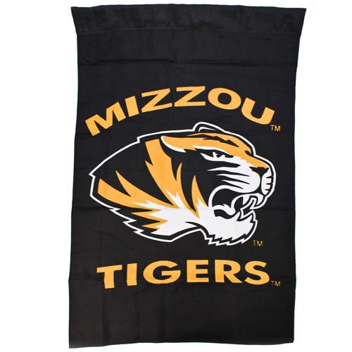 Mizzou Tiger Head Double Sided Black Banner