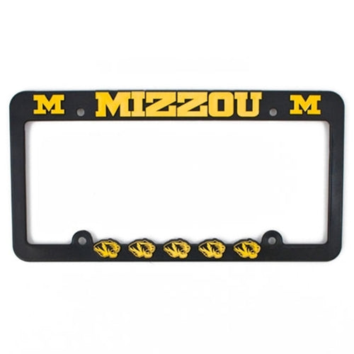 Mizzou Tiger Head Black & Gold License Plate Frame – Tiger Team Store