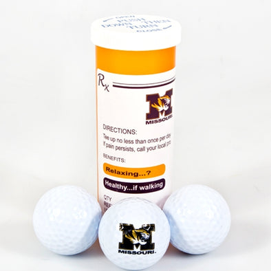 Mizzou Golf Balls in a Prescription Bottle Set of 3
