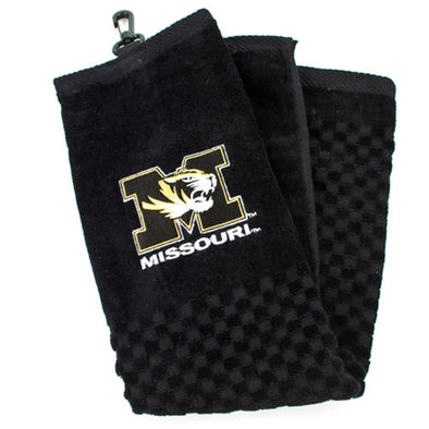 Missouri Tiger Head Woven Golf Towel