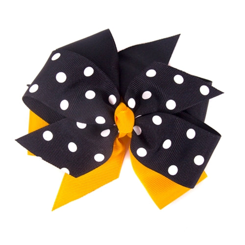 Black & Gold Hair Bow