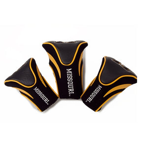 Missouri Black and Gold Club Head Covers Set of 3