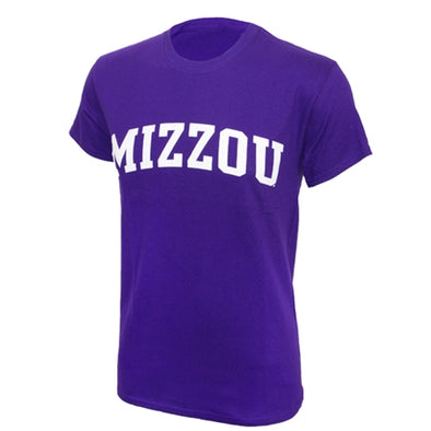 Mizzou Purple Short Sleeve Crew Neck T-Shirt