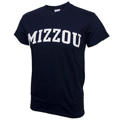 Mizzou Navy Blue Crew Neck T-Shirt