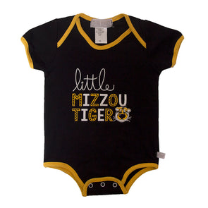 Little Mizzou Tiger Black Onesie