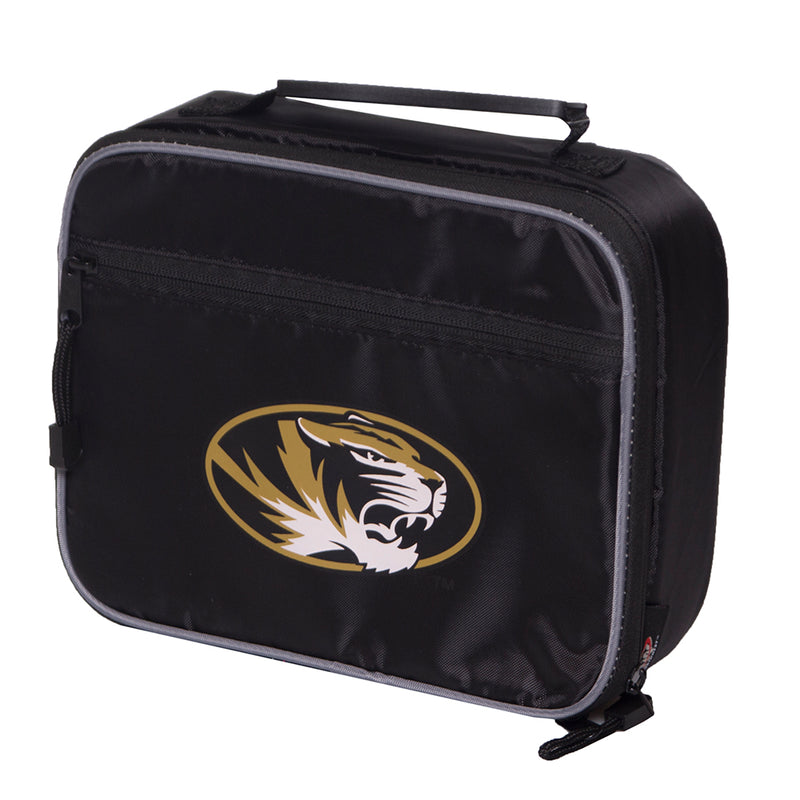 Mizzou Oval Tiger Head Black Lunch Bag