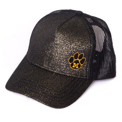 3247c68815b37 Mizzou Juniors  Black Glitter Trucker Hat