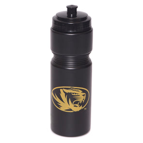 Mizzou Oval Tiger Head Black Squeeze Bottle