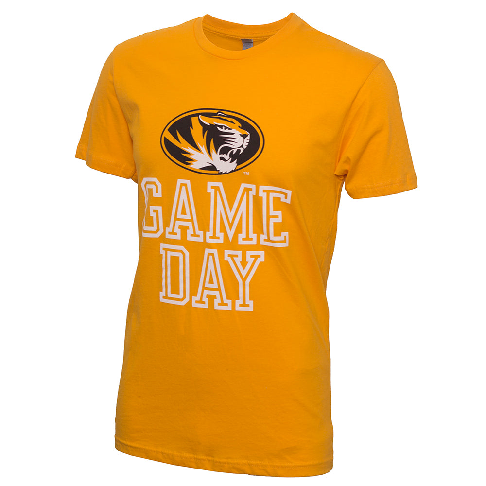 Mizzou Game Day Gold Crew Neck T-Shirt