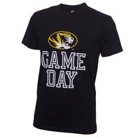 Mizzou Game Day Black Crew Neck T-Shirt