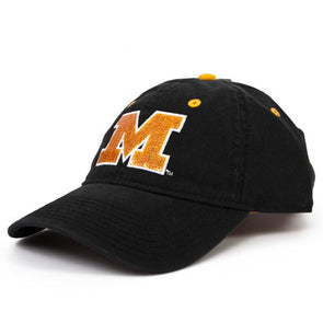 Mizzou Women's Sequin Block M Black Adjustable Hat