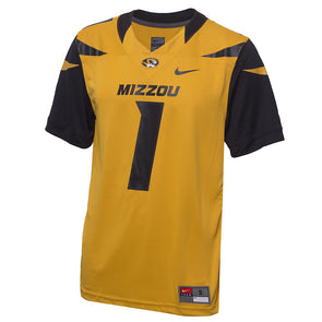 Mizzou Nike&reg 2018 Gold Replica Football Jersey