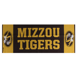 Mizzou Tigers Black & Gold Cooling Towel
