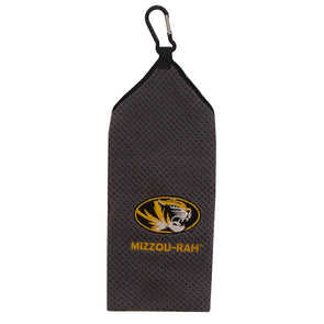 Mizzou-Rah Oval Tiger Head Grey Golf Towel