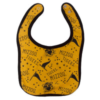 Mizzou Gold All Over Truman, Stars, and Pennants Bib