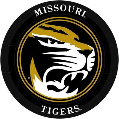Missouri M Tiger Head Paper Plates
