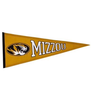 Mizzou Oval Tiger Head Gold Pennant
