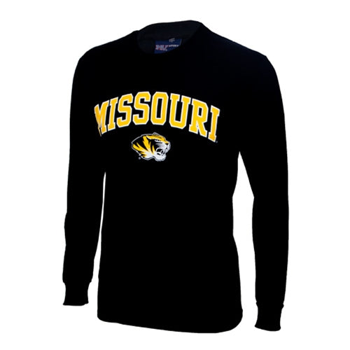 Missouri Tiger Head Black Long Sleeve T-Shirt