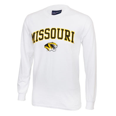 Missouri Tiger Head White Long Sleeve T-Shirt