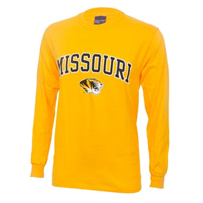 Missouri Tiger Head Gold Long Sleeve T-Shirt