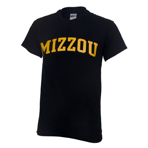 Mizzou Black Short Sleeve Crew Neck T-Shirt