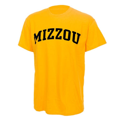 Mizzou Gold Short Sleeve Crew Neck T-Shirt