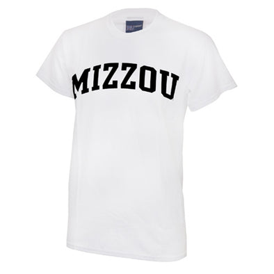Mizzou White Short Sleeve Crew Neck T-Shirt