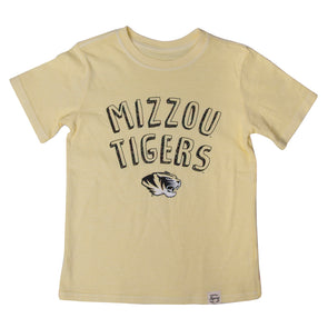 Mizzou Tigers Kids' Yellow Crew Neck T-Shirt