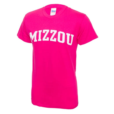 Mizzou Pink Short Sleeve Crew Neck T-Shirt