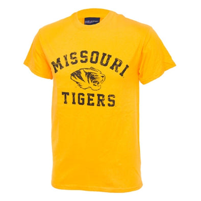 Missouri Tigers Gold Short Sleeve Crew Neck T-Shirt