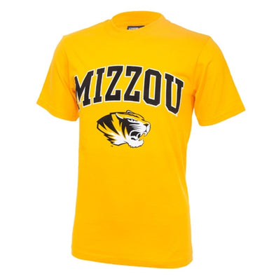 Mizzou Tiger Head Gold Short Sleeve T-Shirt