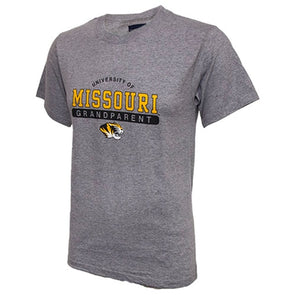 University of Missouri Grandparent Grey Crew Neck T-Shirt